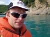 Cris in the kayak (Takaka 2013)
