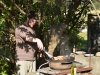 Toby works the BBQ (Takaka 2013)