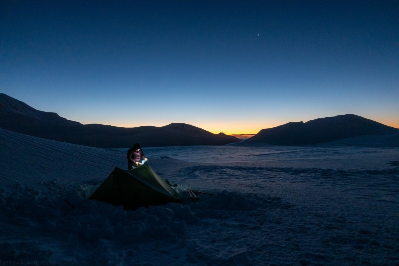 Almost time for bed (Tongariro Adventures July 2021)