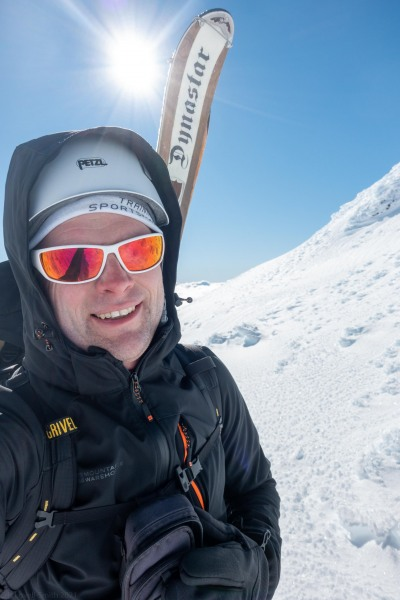 Cris and skis (Tongariro Adventures July 2021)
