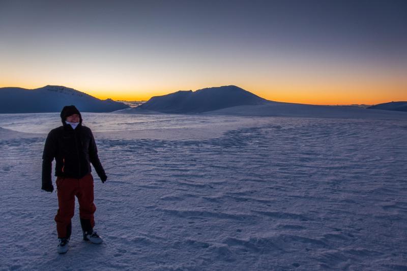 Cris at dusk (Tongariro Adventures July 2021)