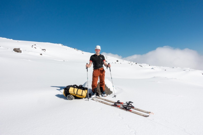Cris posing (Tongariro Adventures July 2021)