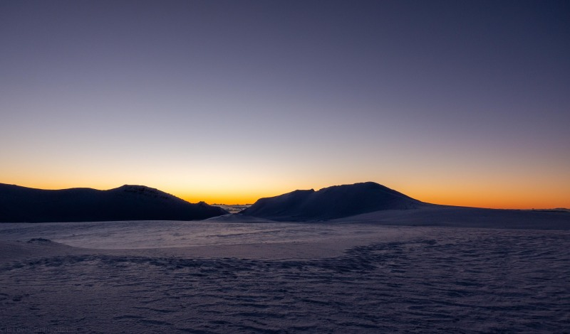Just after sunset (Tongariro Adventures July 2021)