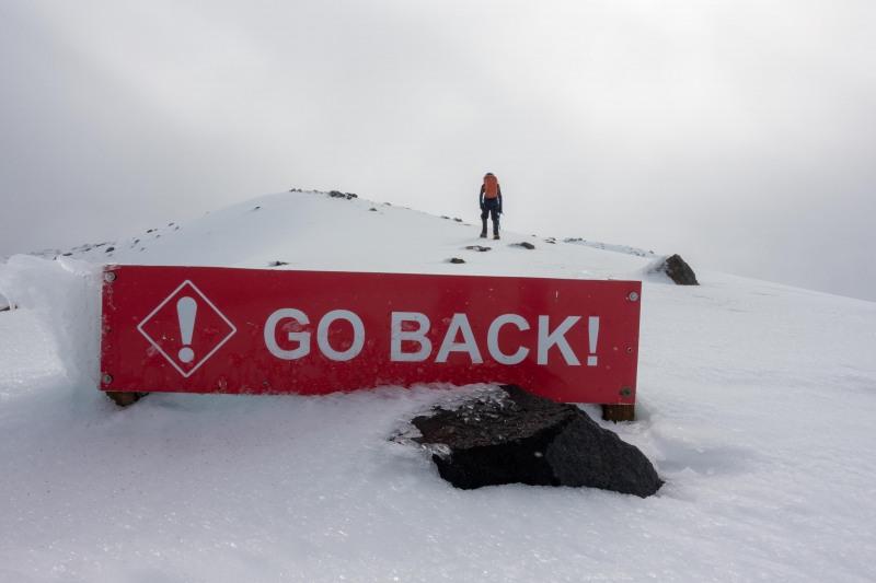 Really, go back (Tongariro Adventures July 2021)