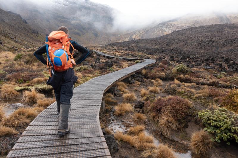 Setting off towards Mt Tongariro (Tongariro Adventures July 2021)