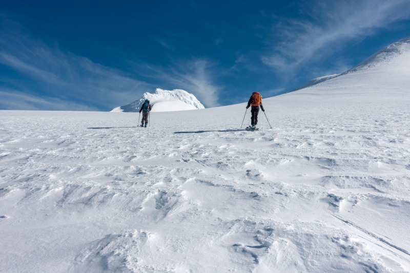 Touring up towards the Crater Lake (Tongariro Adventures July 2021)