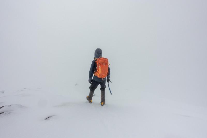 Walking down in a whiteout (Tongariro Adventures July 2021)