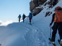 Skinning up the mountain (Tongariro Adventures July 2021)