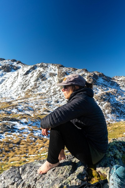 Annu sitting (Tramping Angelus Hut May 2021)