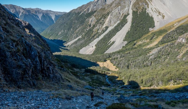 Ascending via Cascade Track (Tramping Angelus Hut May 2021)