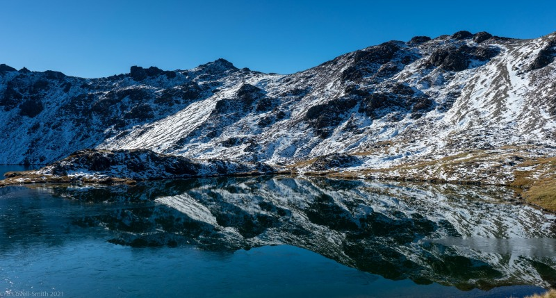 Reflections in the lake (Tramping Angelus Hut May 2021)