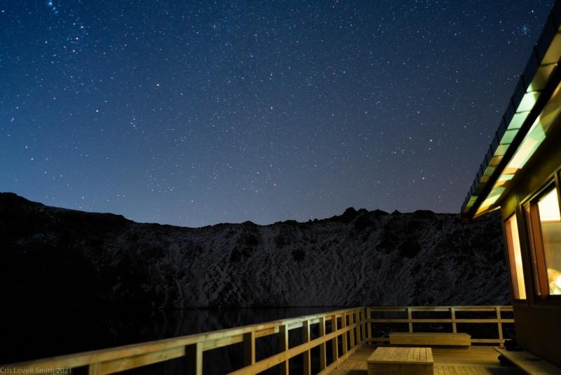 Stars from the hut (Tramping Angelus Hut May 2021)