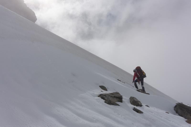 Chris on snow (Hopkins Valley Tramp Jan 2015)