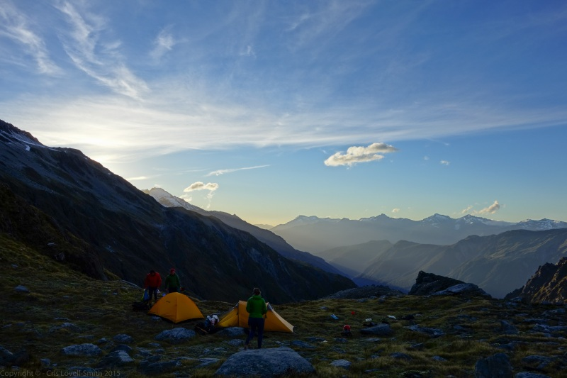 Evening at camp 2 (Hopkins Valley Tramp Jan 2015)