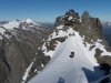 Em, Clare, and Chris on Mt Mackenzie Summit 2 (Hopkins Valley Tramp Jan 2015)