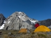 Tents infront of Mt Trent 3 (Hopkins Valley Tramp Jan 2015)