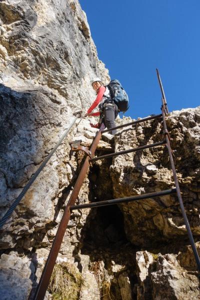 A ladder (Brenta Dolomites)