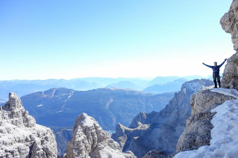 Cris enjoing himself (Brenta Dolomites)