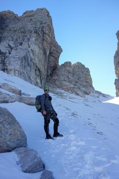 Cris enjoying himself (Brenta Dolomites)