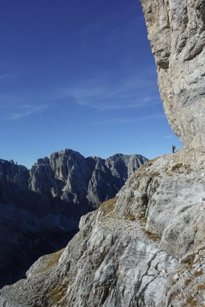 Cris in the distance (Brenta Dolomites 2016)