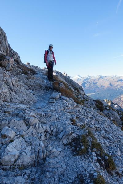 Leonie and icey path (Brenta Dolomites 2016)