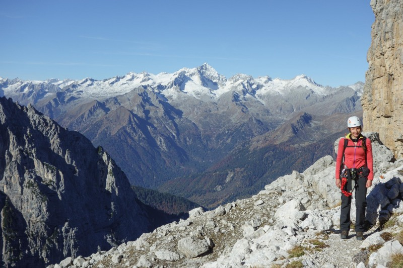 Leonie and snow (Brenta Dolomites 2016)