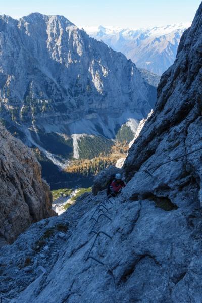 Leonie ascending (Brenta Dolomites 2016)