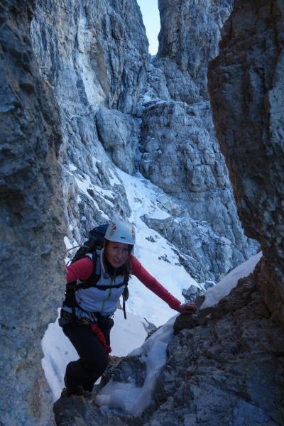 Leonie climbing 2 (Brenta Dolomites)