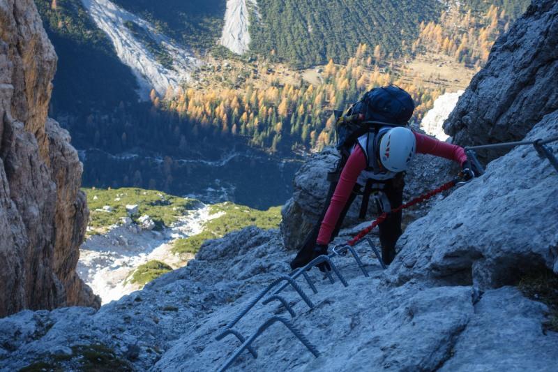 Leonie climbing (Brenta Dolomites 2016)