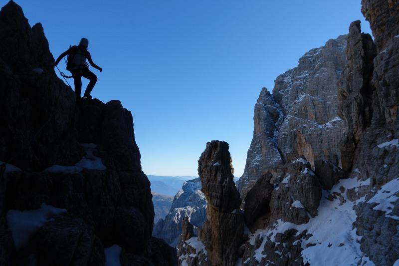 Leonie descending (Brenta Dolomites)