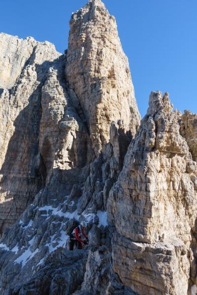 Looking across to Leonie (Brenta Dolomites)