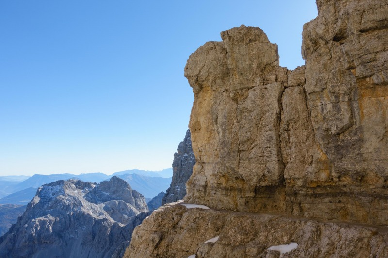 Rock and path (Brenta Dolomites)