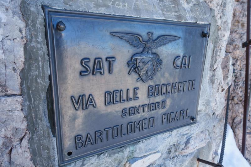 The via delle bocchette ferrata begins (Brenta Dolomites)