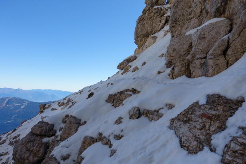 Track in the snow (Brenta Dolomites)