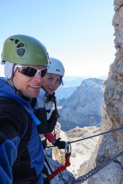 Us in the dolomites (Brenta Dolomites)