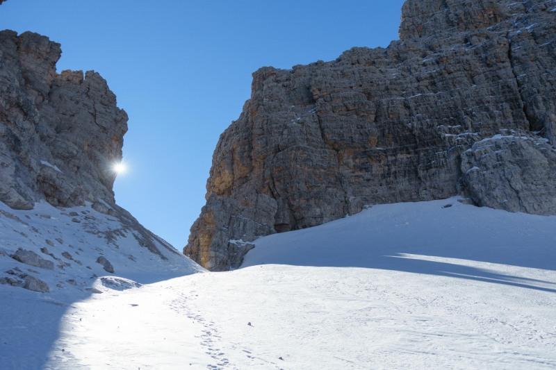 View towards the pass (Brenta Dolomites)