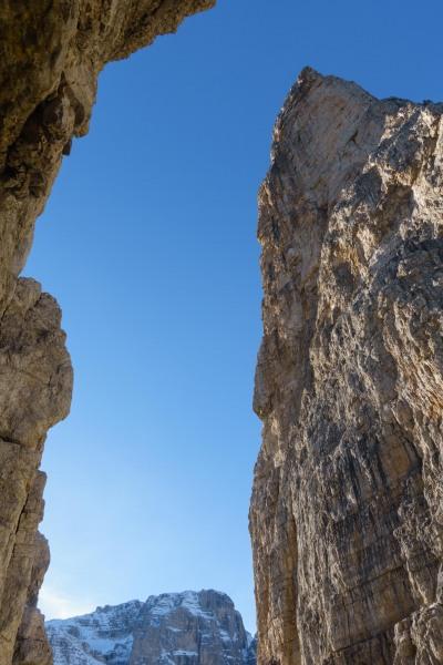 View up between the spires (Brenta Dolomites)