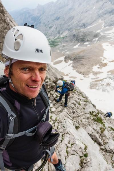 Cris climbing (Zugspitze July 2018)