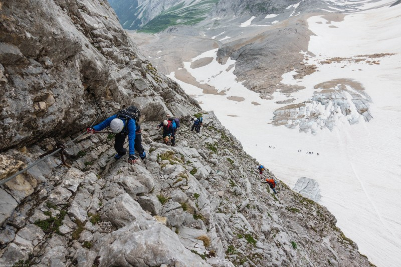 Johannes leads the way (Zugspitze July 2018)