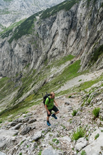 Johannes walking up (Zugspitze)