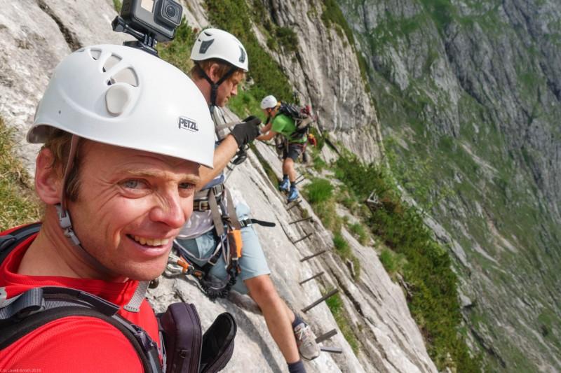 On the first klettersteig (Zugspitze July 2018)