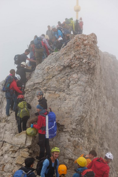 The crowded summit (Zugspitze July 2018)