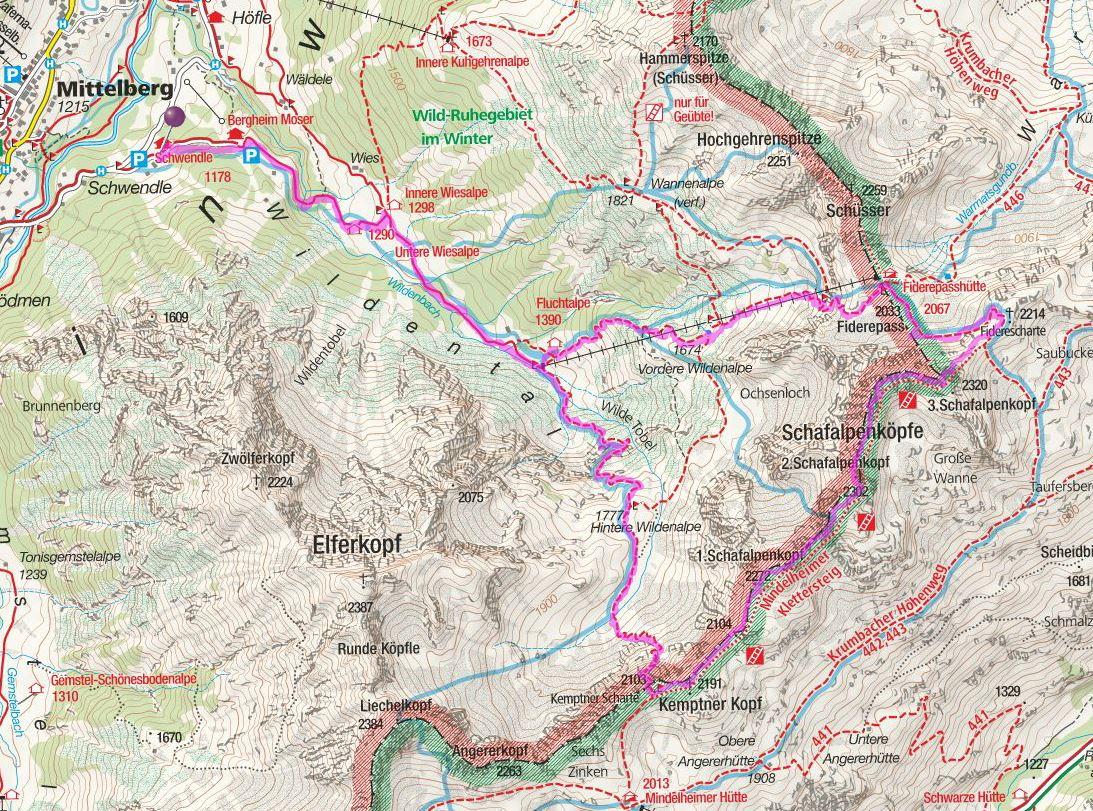 Klettersteig Map : Mindleheimer klettersteig u crispnz trips