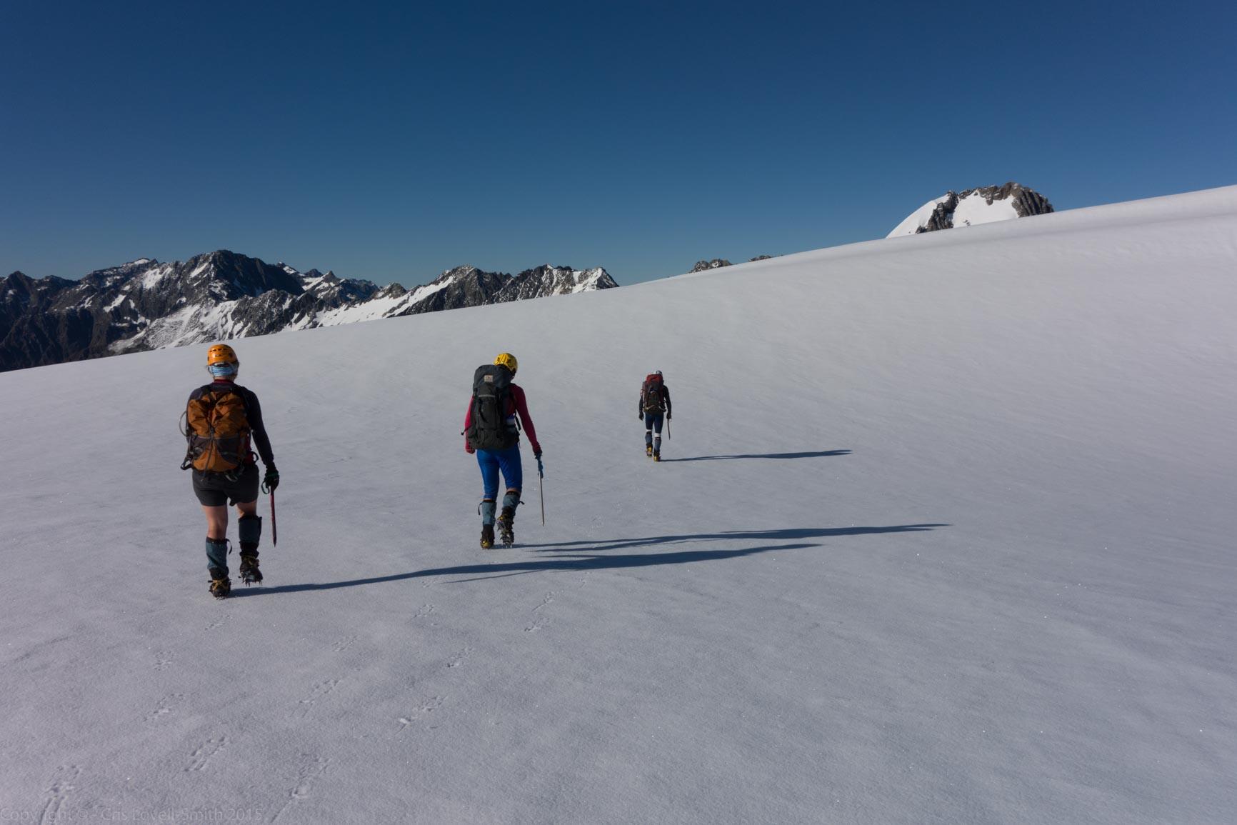 Crossing snow (Hopkins Valley Tramp Jan 2015)