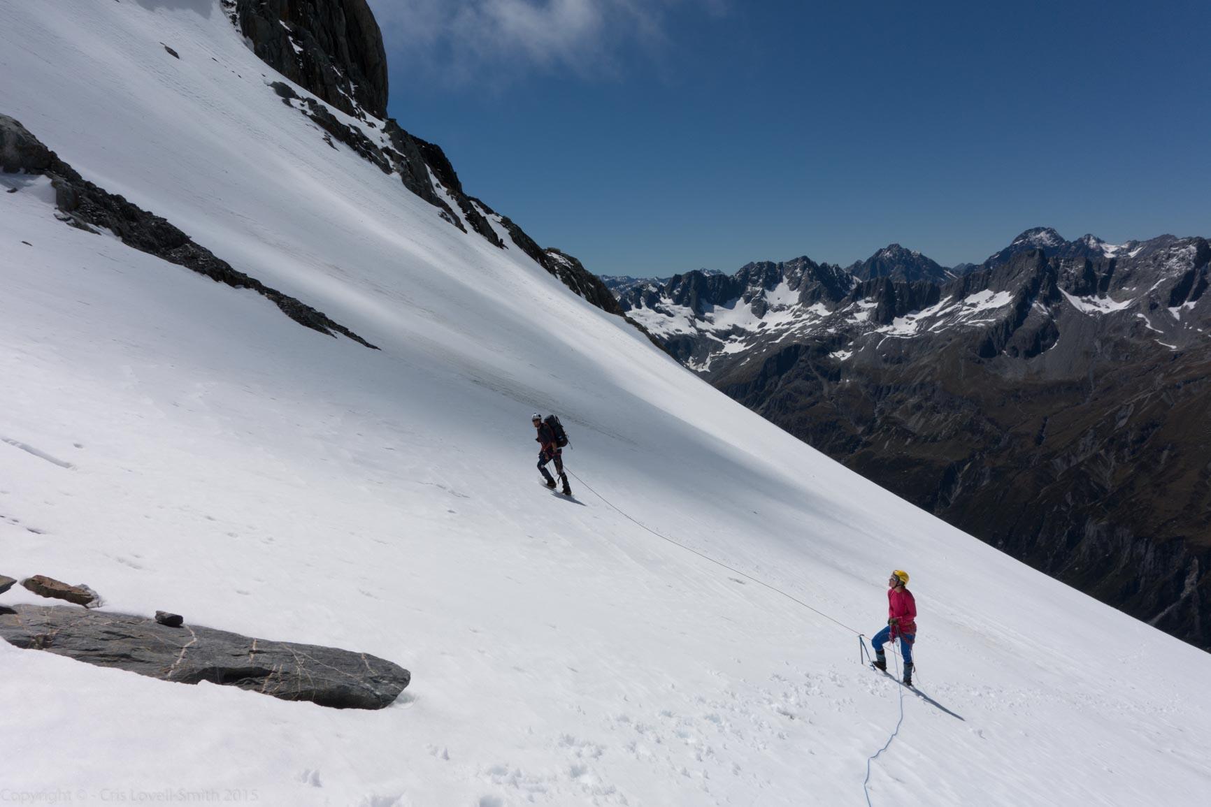 Glacier travel (Hopkins Valley Tramp Jan 2015)