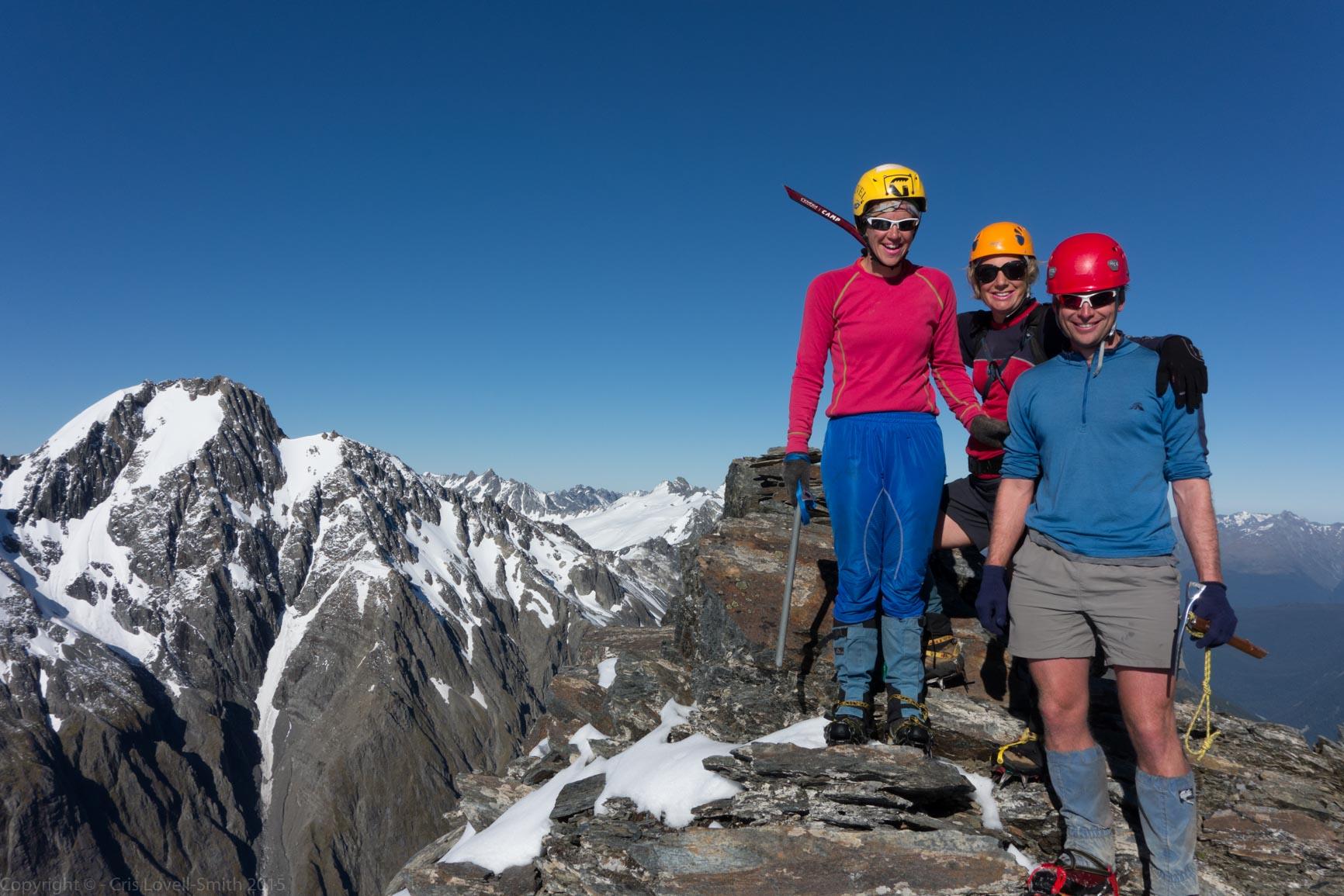 On Mt Mackenzie Summit (Hopkins Valley Tramp Jan 2015)