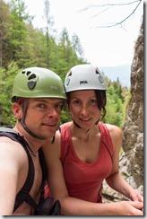 Us on the klettersteig 2 (Slovenia)
