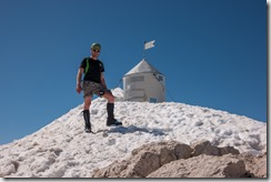 Cris at the summit of Triglav (Summer Holidays 2016)