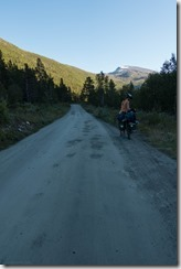 Leonie and her bike (Cycle Touring Norway 2016)