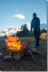 Leonie and her fire (Cycle Touring Norway 2016)